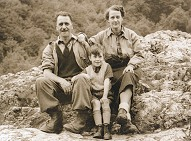 John and his parents, 1953